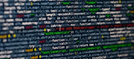 photo d'un écran avec du code